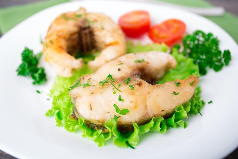 Peixes E Vegetais Fritados Imagem de Stock Royalty Free
