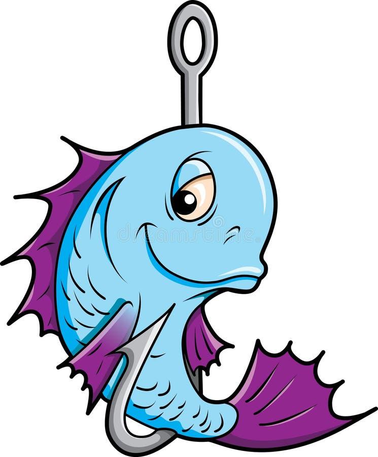 Peixes em um gancho. ilustração royalty free