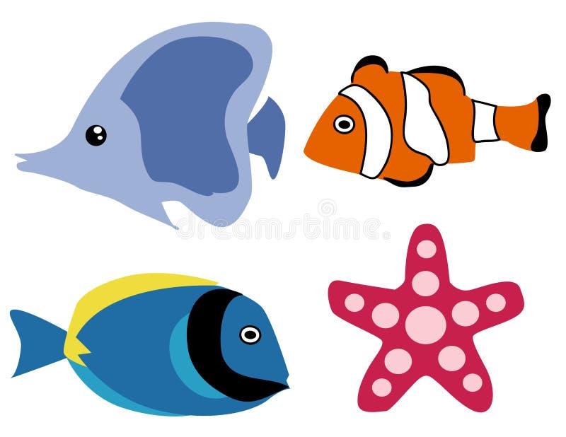 Peixes exóticos ilustração royalty free