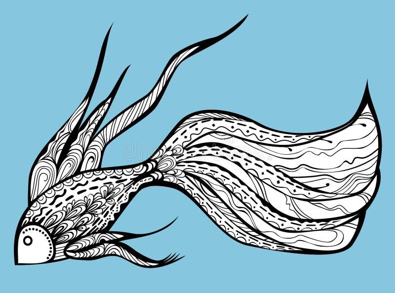 Peixes extravagantes ilustração royalty free