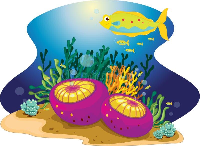 Peixes Frilly ilustração stock