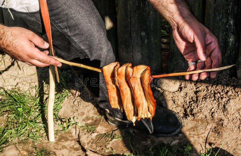 Peixes fumado tradicionais foto de stock