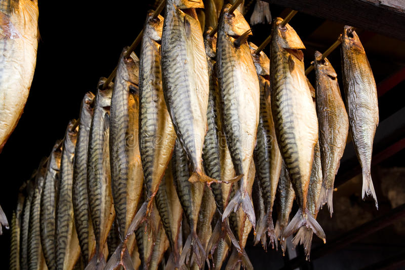 Peixes fumados foto de stock royalty free