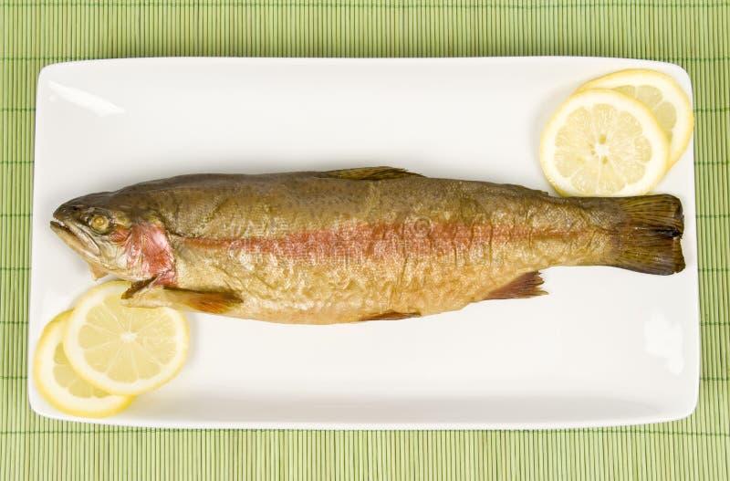 Peixes fumados (truta de arco-íris) imagens de stock royalty free