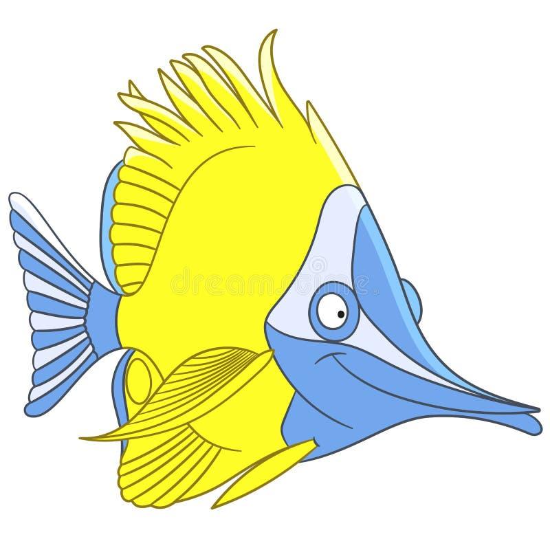 Peixes longnose da borboleta dos desenhos animados bonitos ilustração royalty free