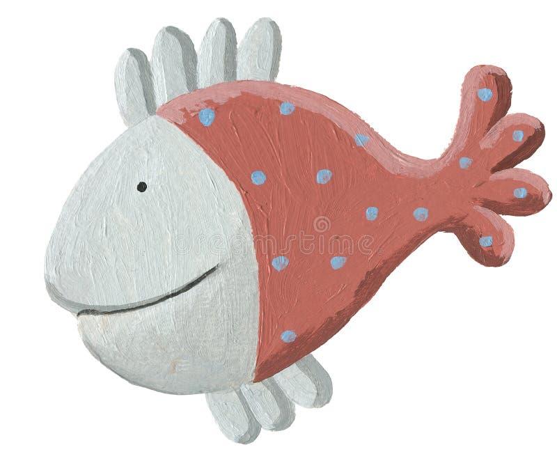 Peixes marrons engraçados ilustração royalty free