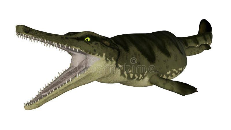 Peixes pré-históricos de Metriorhynchus - 3D rendem ilustração do vetor