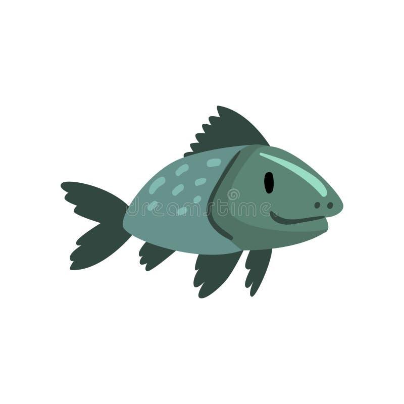 Peixes pré-históricos, fase da evolução da biologia, ilustração gradual do vetor do desenvolvimento ilustração royalty free