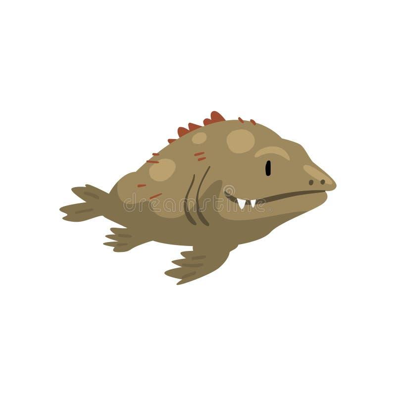 Peixes pré-históricos, fase da evolução da biologia, ilustração gradual evolucionária do vetor do desenvolvimento ilustração royalty free