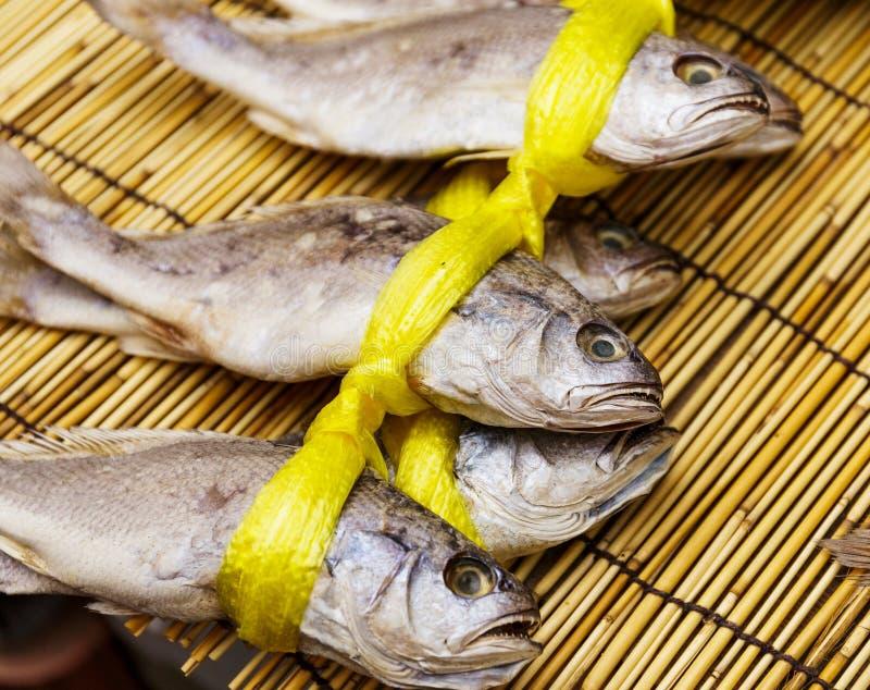 Peixes salgados secados para a venda imagens de stock royalty free
