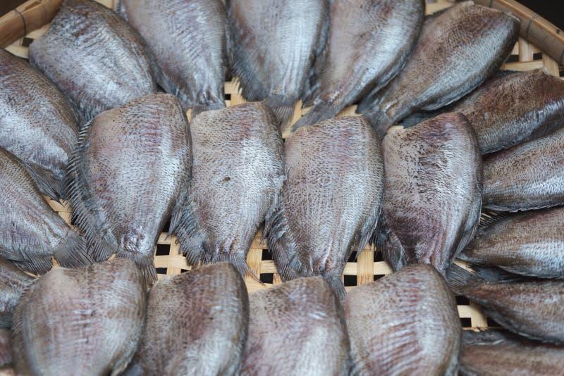Peixes secados do pectoralis de Trichogaster para cozinhar em Tailândia fotos de stock royalty free