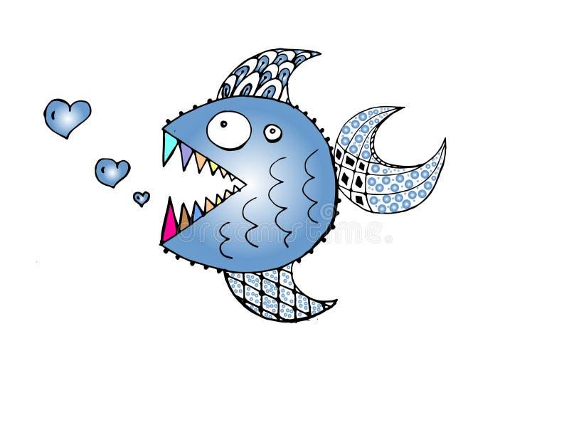 Peixes Toothy ilustração royalty free
