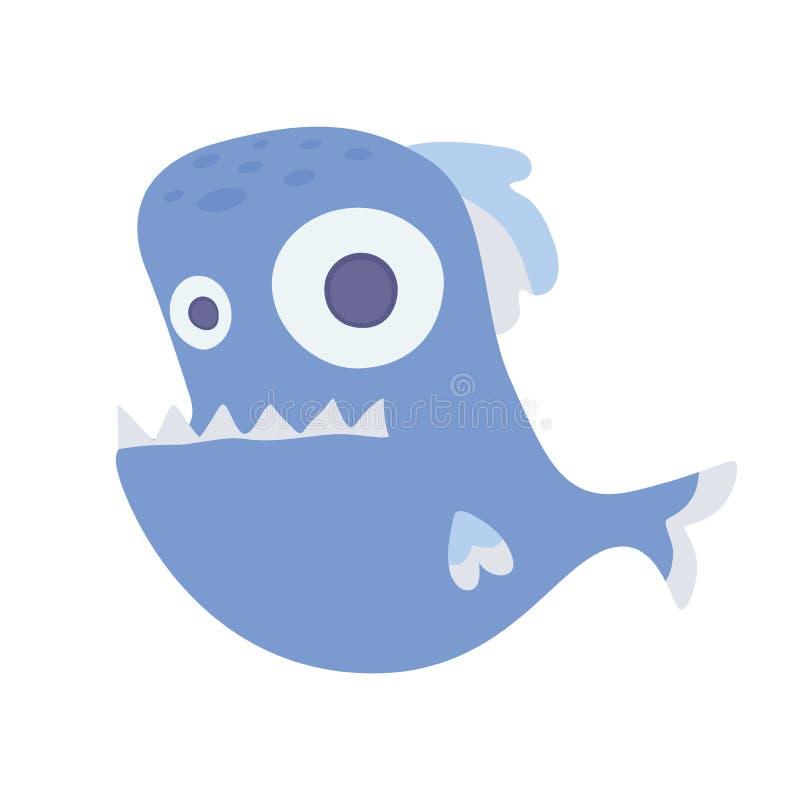 Peixes toothy do mar bonito Ilustração do vetor, no branco ilustração royalty free