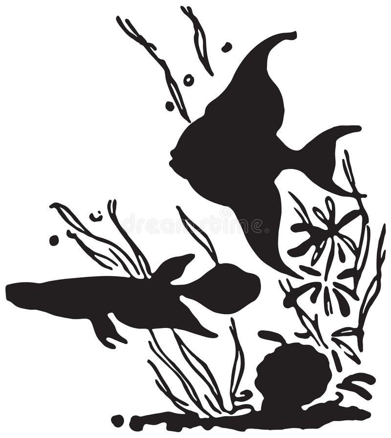 Peixes tropicais ilustração stock
