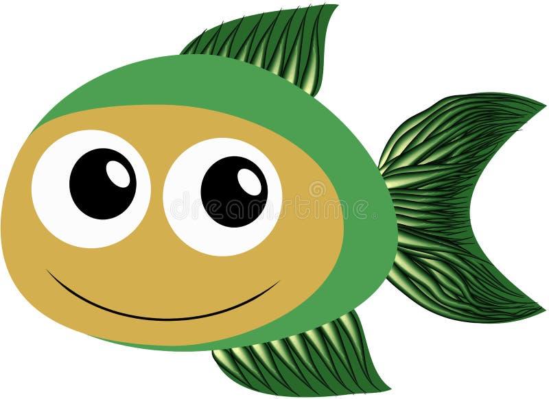 Peixes verdes ilustração do vetor