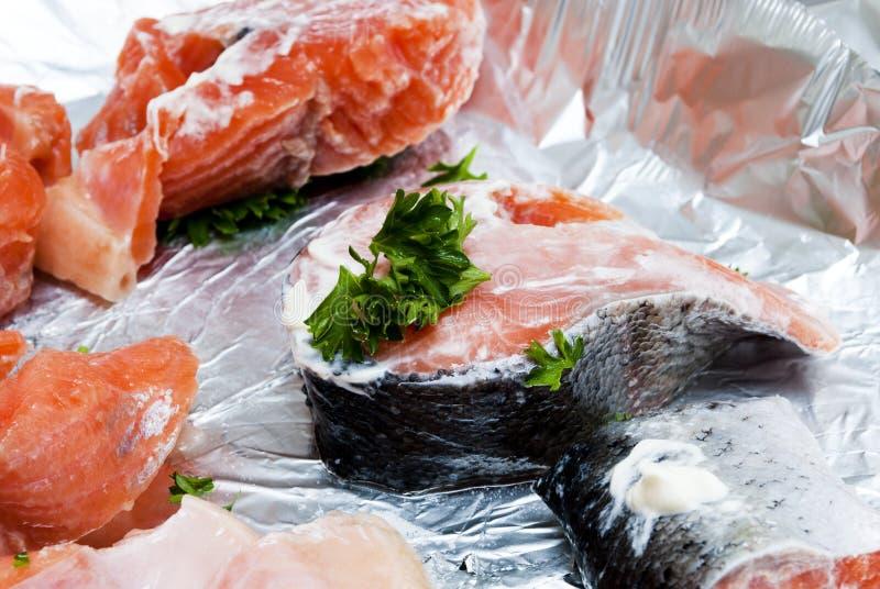 Peixes vermelhos crus fotos de stock royalty free