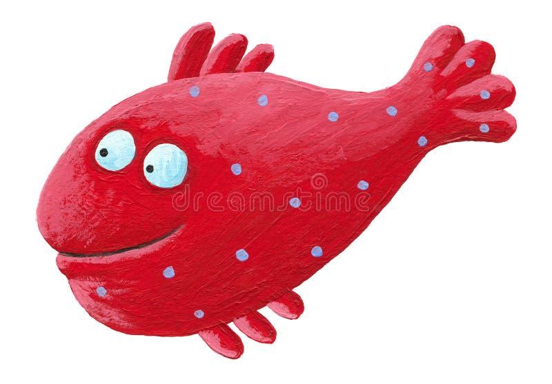 Peixes vermelhos engraçados ilustração stock