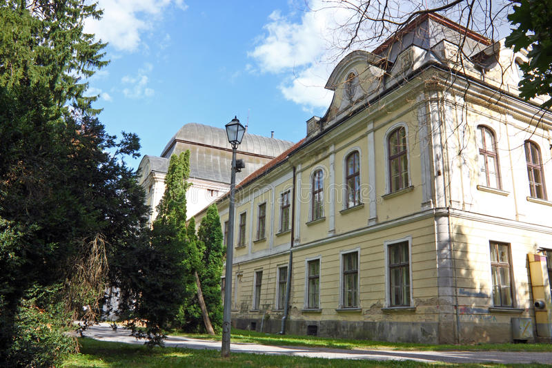 Pejacevic城堡在维罗维蒂察 免版税库存照片