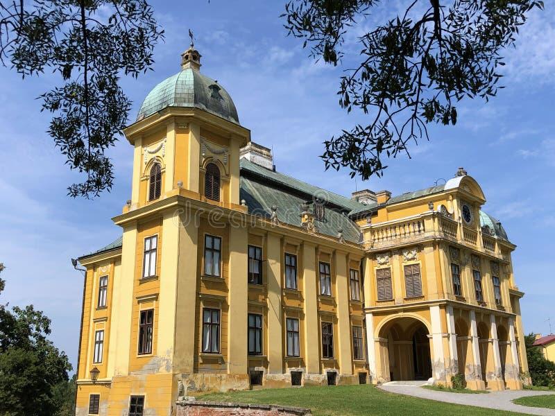 Pejacevic Castle Big Castle or The old castle of count Pejacevic or Dvorac Pejacevic ili Stari dvorac grofova Pejacevic. Ili Veliki dvorac - Nasice, Croatia stock photos