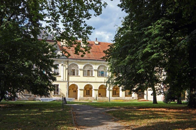 Pejacevic castle in Virovitica. Home to Virovitica Municipal Museum, Croatia royalty free stock photos