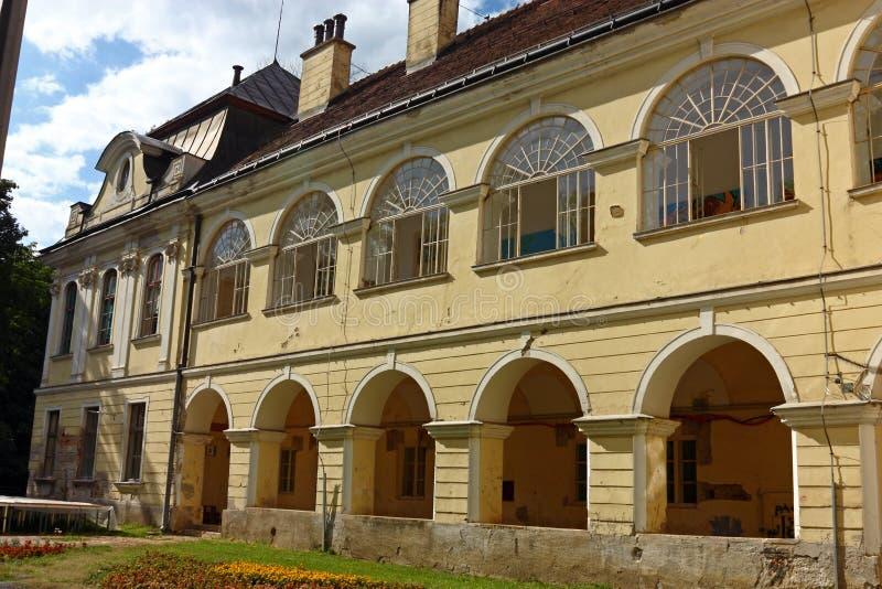 Pejacevic castle in Virovitica. Home to Virovitica Municipal Museum, Croatia stock photos