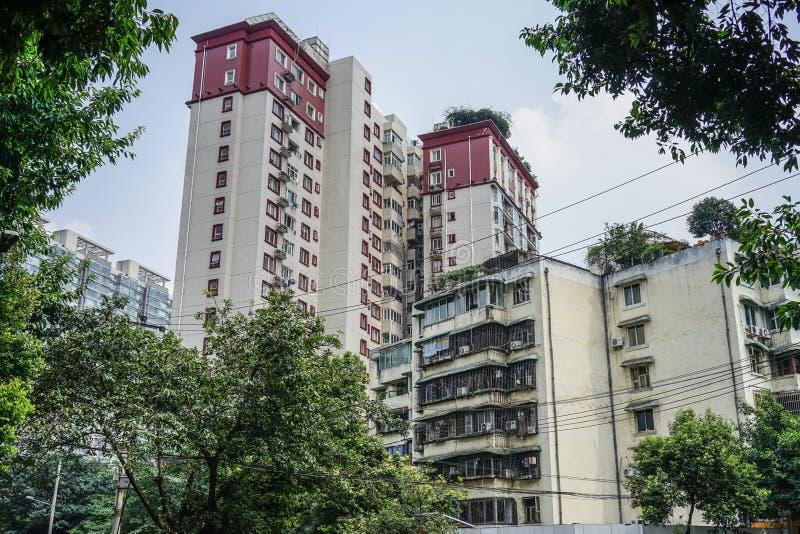 Pejzaż miejski Chengdu, Chiny obraz royalty free