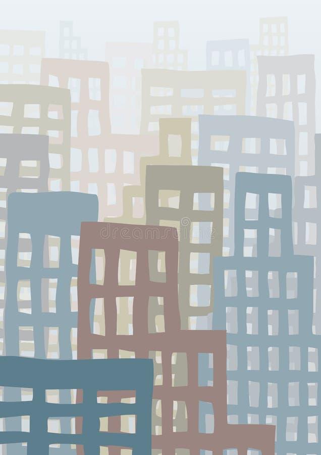 pejzaż miejski ilustracji