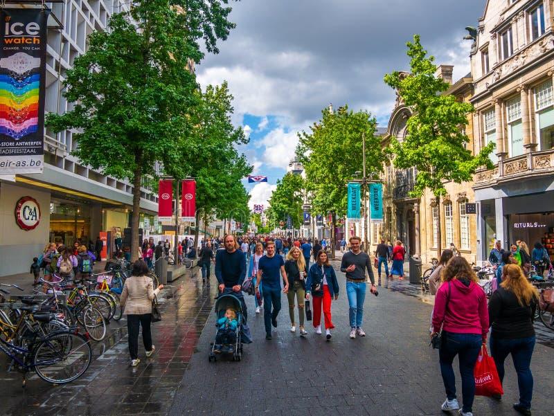 Pejzaż miejski Antwerp obrazy royalty free