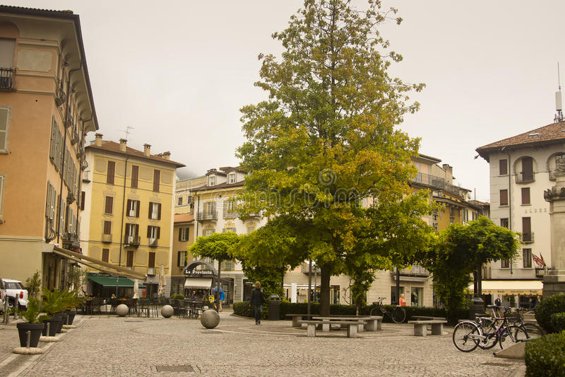Pejzaż miejski Como Włochy fotografia royalty free