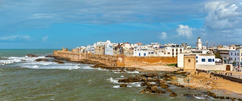 Pejzaż miejski Essaouira, UNESCO światowego dziedzictwa miejsce w Maroko zdjęcie stock