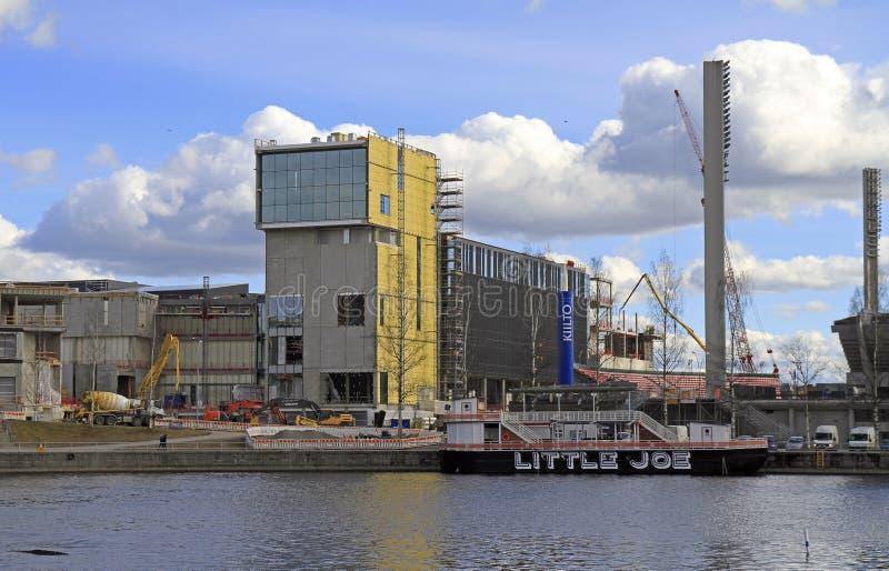 Pejzaż miejski finnish miasto Tampere zdjęcia royalty free