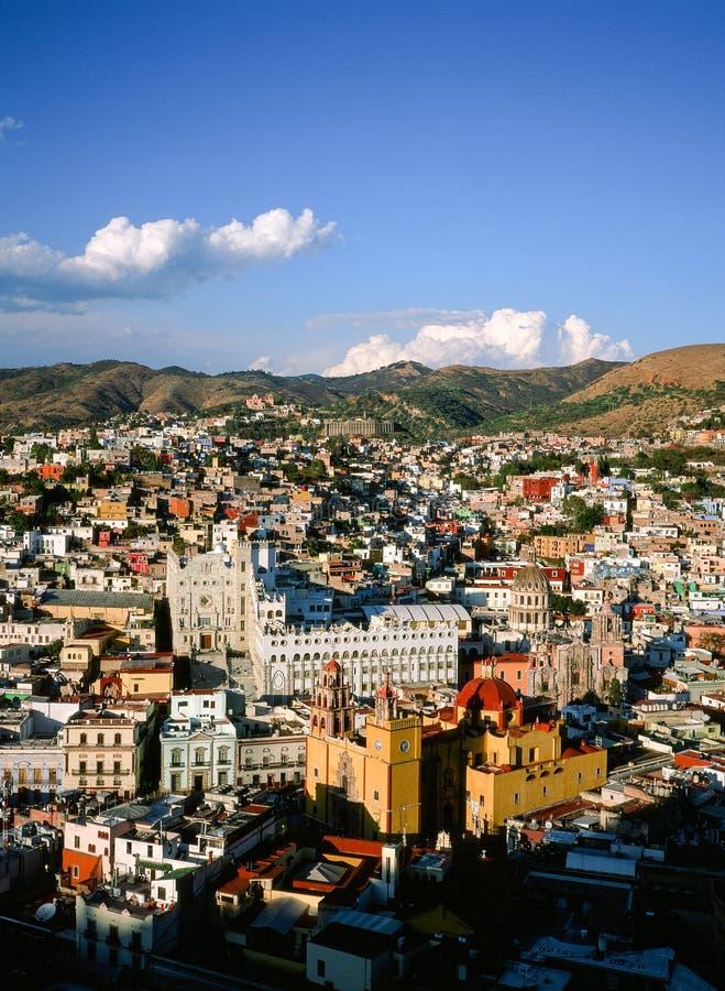 Pejzaż miejski Guanajuato, Meksyk zdjęcie stock