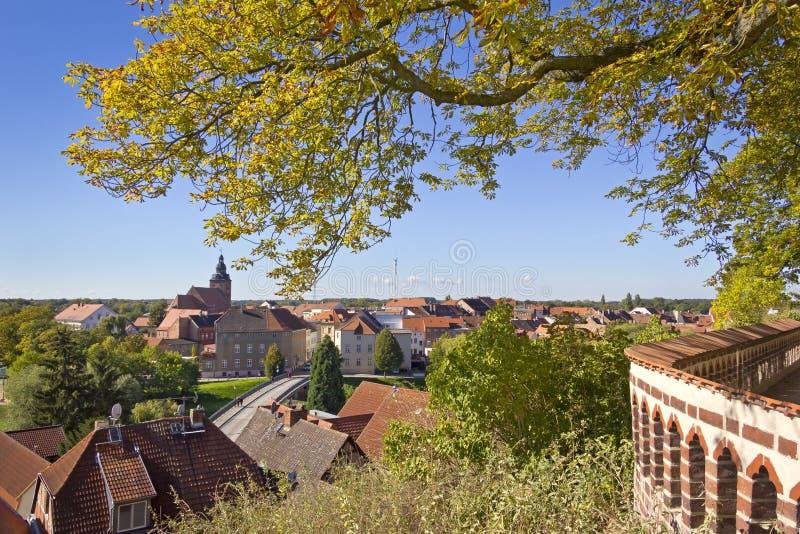 Pejzaż miejski Havelberg zdjęcie stock