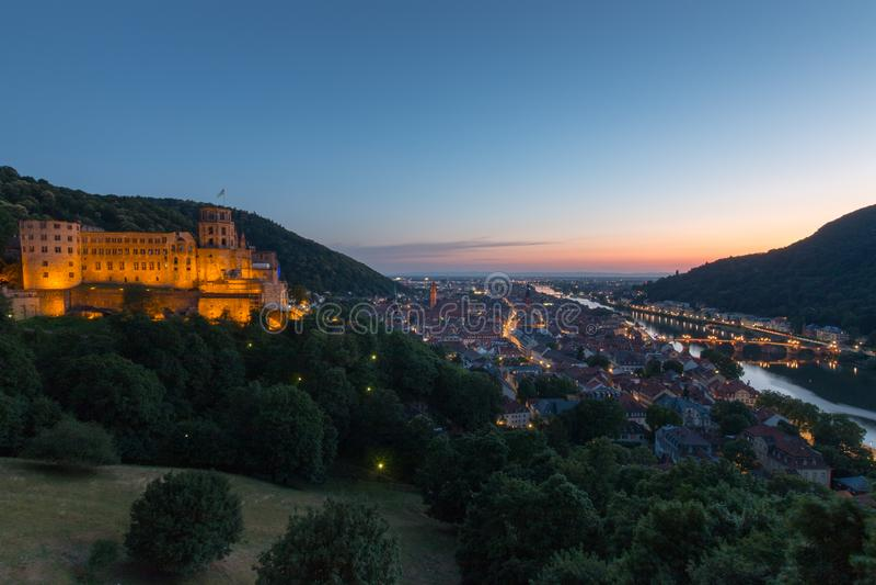 Pejzaż miejski Heidelberg, Niemcy fotografia stock