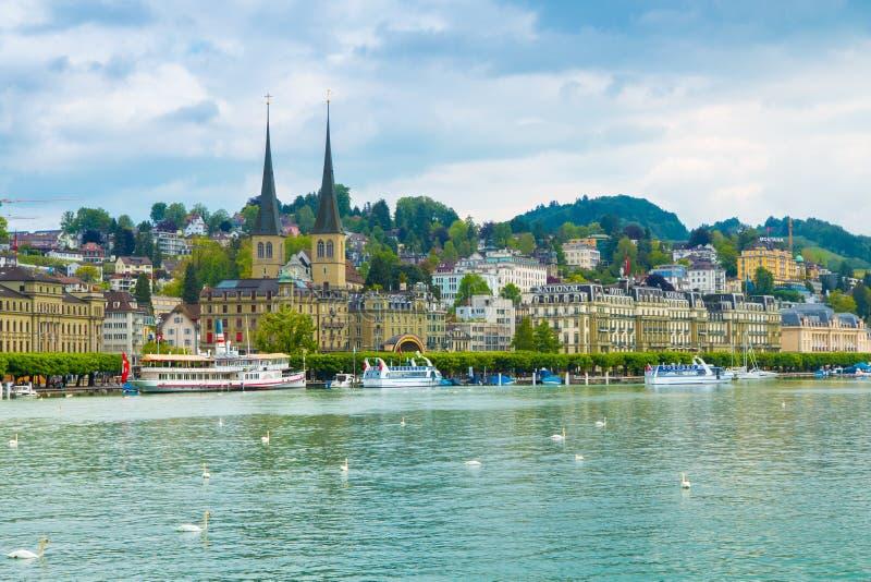 pejzaż miejski lucerna Switzerland obraz stock