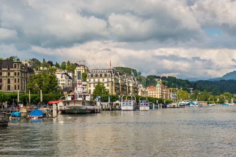 pejzaż miejski lucerna Switzerland fotografia stock