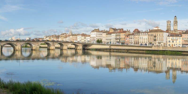 Pejzaż miejski Macon, Francja fotografia royalty free