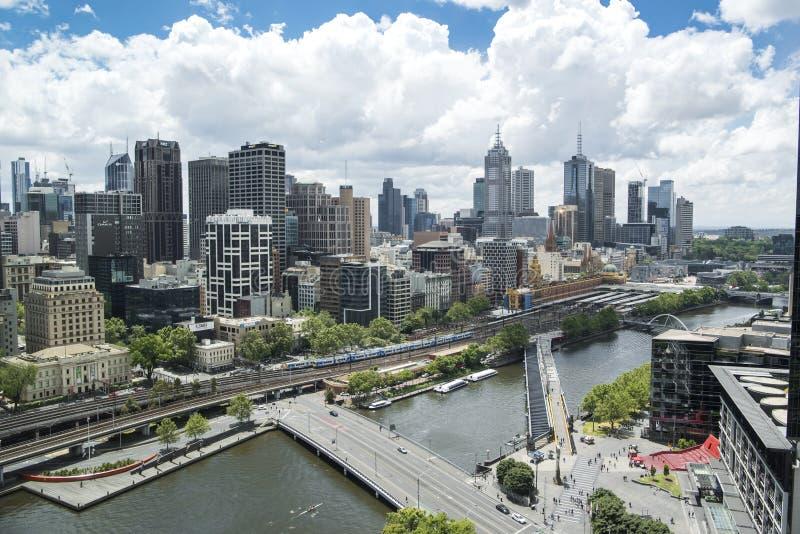 Pejzaż miejski Melbourne obrazy stock