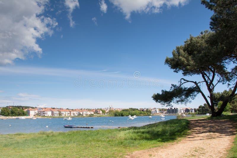 pejzaż miejski miasto Medulin, Istria półwysep, Chorwacja fotografia royalty free