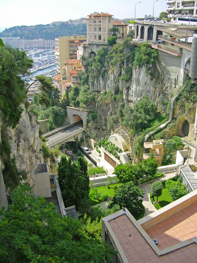 pejzaż miejski Monaco obrazy royalty free