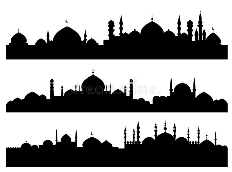 pejzaż miejski muzułmańscy royalty ilustracja