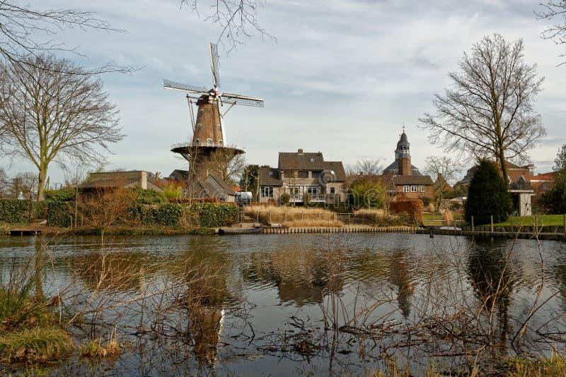 Pejzaż miejski na Ravenstein w holandiach fotografia stock