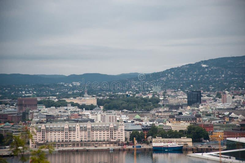 pejzaż miejski Oslo obrazy royalty free