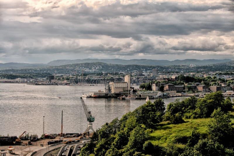 Pejzaż miejski Oslo Norway obrazy stock