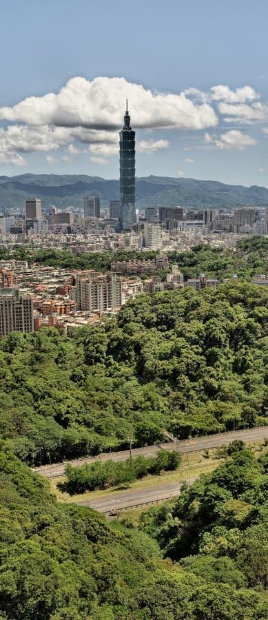 pejzaż miejski panoramiczny Taipei zdjęcia royalty free