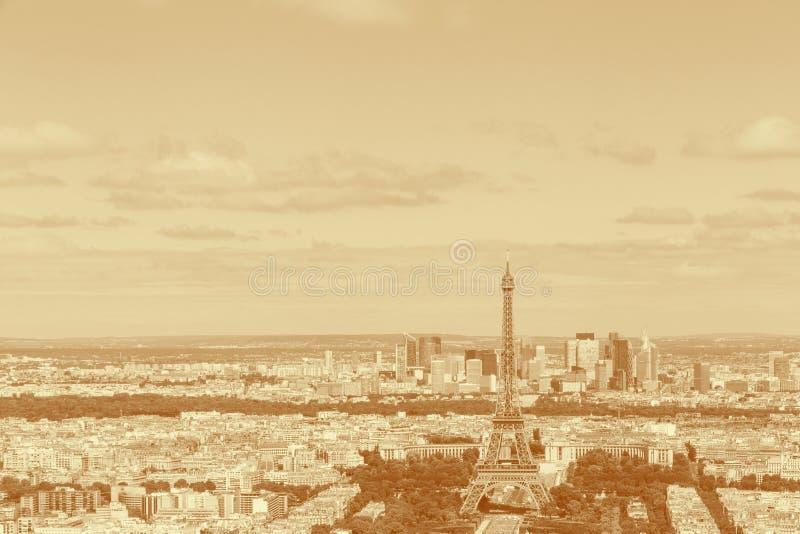 Pejzaż miejski Paryż z wieżą eifla obraz royalty free
