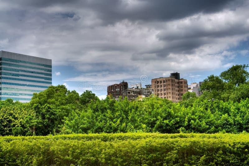 pejzaż miejski piękna zieleń fotografia royalty free