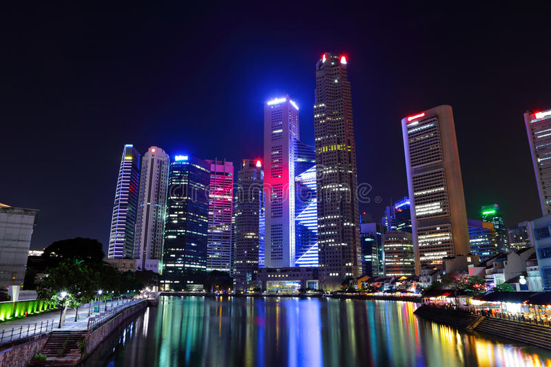 pejzaż miejski Singapore obrazy stock
