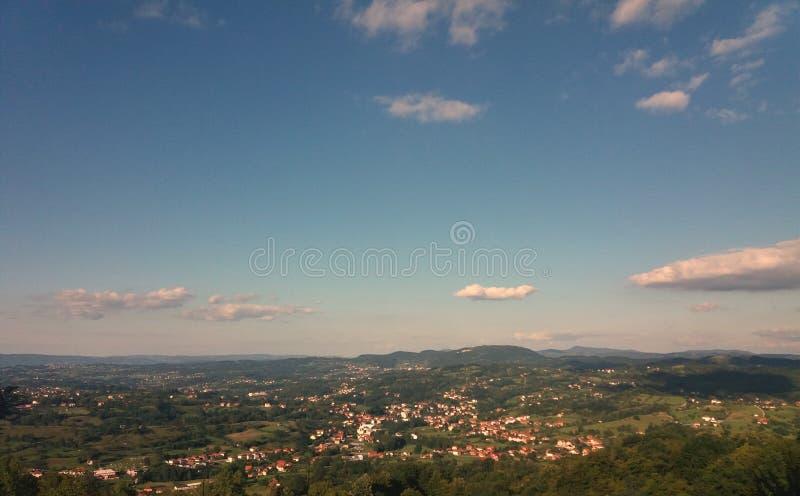 Pejzaż miejski Tesanj, Bośnia i Herzegovina, zdjęcie stock