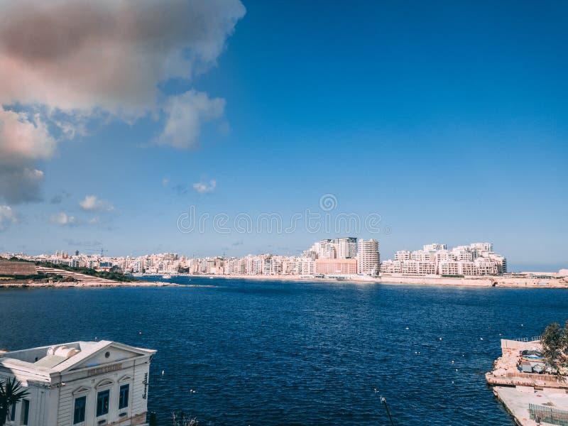 Pejzaż miejski Valletta obraz stock